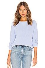 525 america Emma Shaker Sweater in Blue Mist