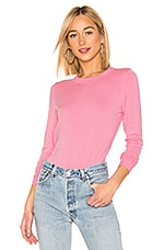 525 america Ribbed Crew Neck Pullover in Seashell Pink