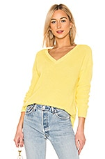 525 america Emma V Neck Sweater in Lemon Yellow