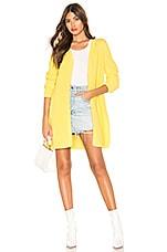 525 america Open Front Cardigan in Lemon Yellow