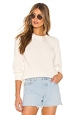 525 america Balloon Sleeve Sweater in White