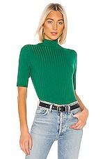 525 america Mock Neck Pullover in Bright Jade