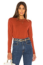 525 america Crew Neck Sweater in Red Clay Melange