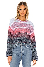525 america Gradient Colored Crew Pullover Sweater in Midnight Multi