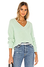 525 america Cropped V Neck Sweater in Pale Mint
