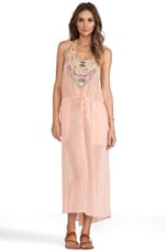 6 SHORE ROAD x REVOLVE Third Eye Beaded Cover in Coral