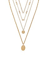 8 Other Reasons Hail Mary Necklace in Gold