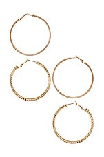8 Other Reasons Carmen Hoop Set in Gold & Clear