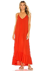 9 Seed Paloma Ruffle Maxi Dress in Dahlia