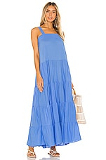 9 Seed Sayulita Tier Maxi Dress in Moroccan Blue