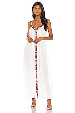 9 Seed Portofino Dress in White & Ecuadorian Trim