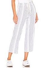 9 Seed Hamptons Drawstring Pant in Striped Gauze