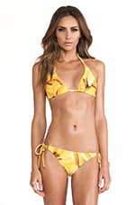Padded Halter Top in Bananas