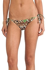 String Bikini Bottom in Leopard
