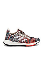 adidas by MISSONI Pulseboost HD Sneaker in White & Active Orange