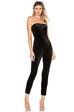 superdown Xandra Velvet Jumpsuit in Black