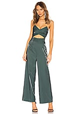 About Us Kimberley Cut Out Jumpsuit in Forrest Green