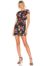 About Us Addison Mini Dress in Black Floral
