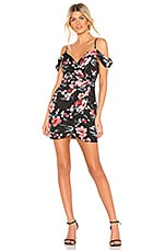 About Us Leah Mini Dress in Black Floral