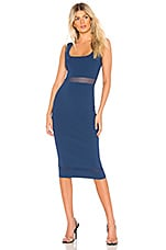About Us Kennedy Knit Midi Dress in Navy