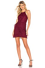About Us Cora Mini Dress in Wine Red
