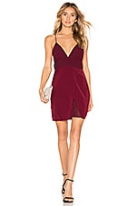 About Us Andrea Chiffon Mini Dress in Wine Red