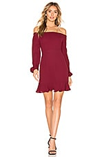 About Us Anastasia Mini Dress in Wine