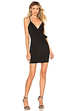 About Us Annabelle Surplice Mini Dress in Black