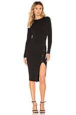 superdown Tyra Midi Dress in Black