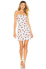 About Us Sherrie Cherry Mini Dress in White Cherry