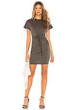 About Us Sydney Tie Front Dress in Charcoal Grey