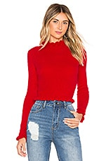 superdown Martina Cropped Sweater in Red
