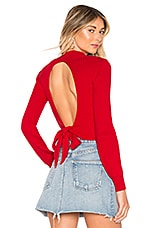 About Us Estelle Tie Back Sweater in Red