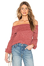 About Us Ashton Chenille Sweater in Blush