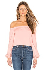 About Us Bella Off Shoulder Sweatshirt in Pink