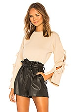 About Us Michelle Tie Sleeve Sweater in Nude
