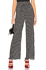 About Us Charlie Wide Leg Pants in Black & White