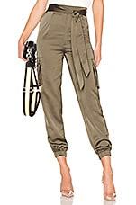 superdown Rachel Satin Cargo Pants in Green
