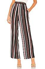 About Us Lenny Pants in Black Multi Stripe