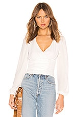 superdown Sasha Wrap Top in White