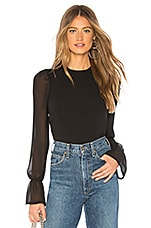 superdown Alyssa Blouse in Black