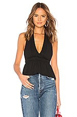 superdown Adalyn Halter Top in Black