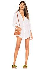 Acacia Swimwear Milos Shirt Dress in White