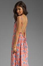 Acacia Swimwear Hana Backless Long Dress in Vintage Aloha