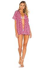 Acacia Swimwear Mombasa Button Up in Pink Batik
