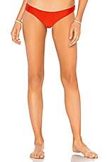 Acacia Swimwear Ho Okipa Mesh Bikini Bottom in Lava Mesh