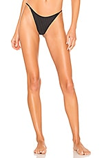 Acacia Swimwear Fins Bottom in Ebony Mesh