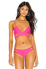 Acacia Swimwear Haku Top in Pink Stabillo