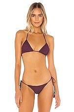Acacia Swimwear Crochet Humuhumu Top in Plum