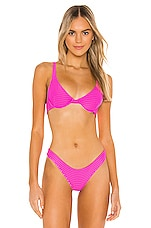 Acacia Swimwear Geneva Mesh Top in Neon Rose